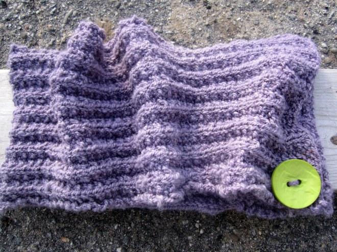Logwood dyed alpaca scarf