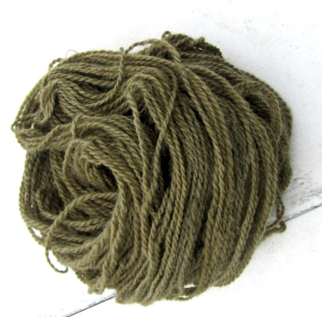 Alpaca dyed with Sheep Sorrel